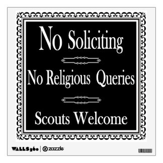 No Soliciting sign Wall Decal