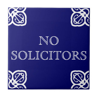 No Solicitors Sign Tile