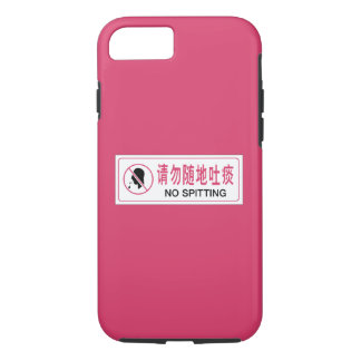 No Spitting, Bus, Chinese Sign iPhone 7 Case