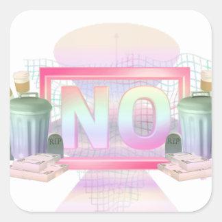 No Square Sticker