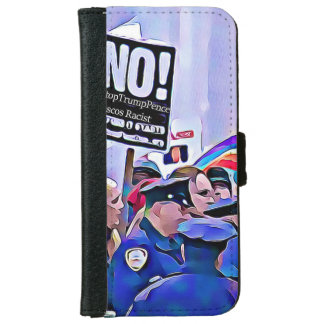 No! Stop Trump & Pence, Women's March for equality iPhone 6 Wallet Case