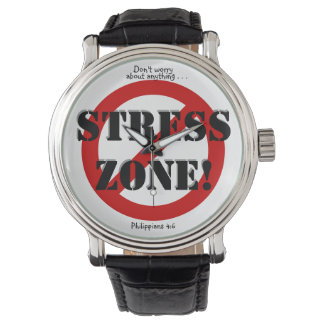 NO STRESS ZONE! WATCH, w/Scripture reference Wrist Watches