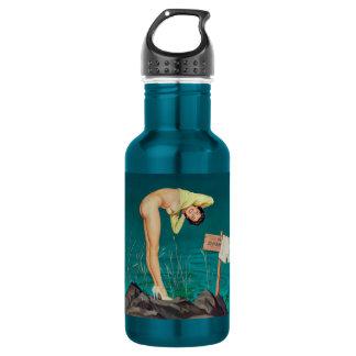 No swimming vintage pinup girl 532 ml water bottle