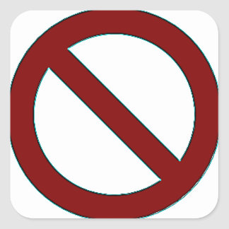 NO! Symbol Sticker (small)
