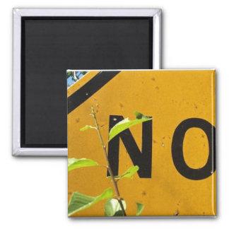 No (t a through street) square magnet