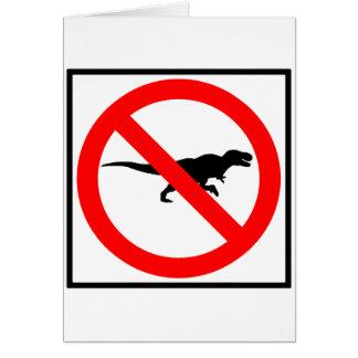 No T-Rexes Highway Sign Dinosaur Card