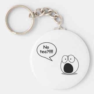 No Tea Keychain