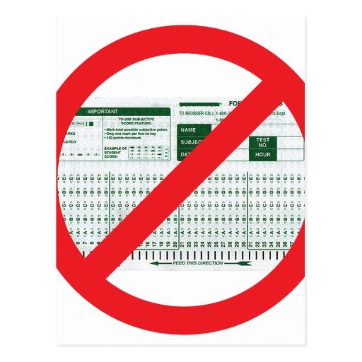 No Testing! Postcard