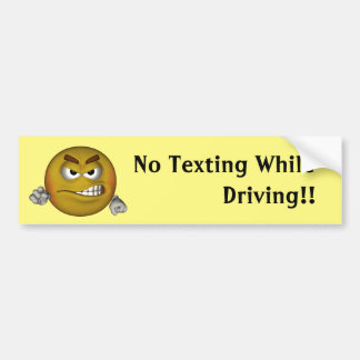 No Texting While Driving Bumper Sticker