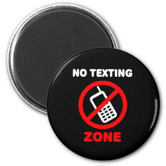 No Texting Zone Magnet