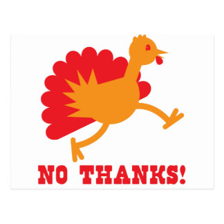 No thanks with an orange turkey postcard