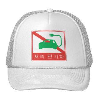 NO Thoroughfare for NEVs Korean Traffic Sign Trucker Hat