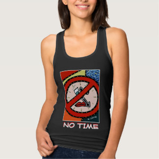 No Time  - Black -Time Pieces Tank Top