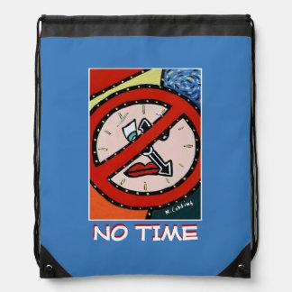 No Time - Blue -Time  Pieces Drawstring Bag
