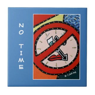 No Time - Blue - Time Pieces Tile