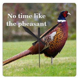 No time like the pheasant wallclocks