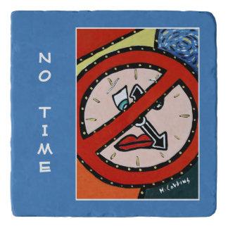No Time On Blue Time Pieces Trivet