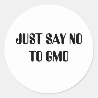 NO TO GMO CLASSIC ROUND STICKER