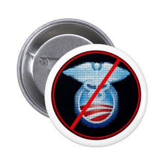 No to Obamacare 2 Inch Round Button