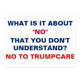 No to Trumpcare Postcard