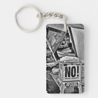 NO to War Keychain