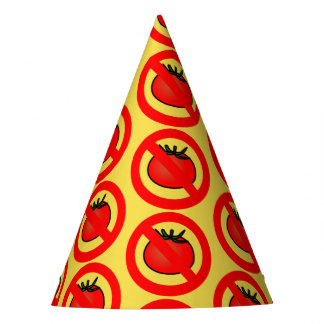 No Tomatoes Party Hat