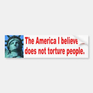 No Torture Bumper Sticker