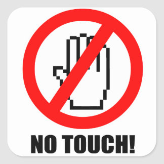 No Touch Sticker
