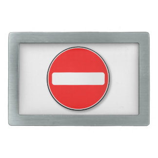 No Traffic Entry Belt Buckles