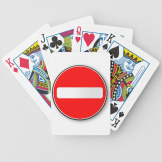 No Traffic Entry Bicycle Playing Cards