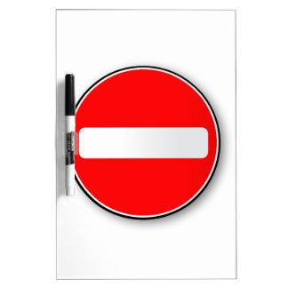 No Traffic Entry Dry Erase Whiteboard