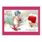 No Trespassing Heart Vintage Valentine Postcard