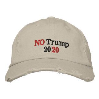 NO Trump 2020 Embroidered Baseball Cap