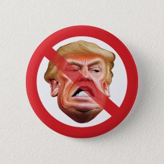 No Trump - Anti Trump No Symbol Diagonal Line 2 Inch Round Button