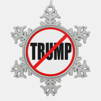 """NO TRUMP"" SNOWFLAKE PEWTER CHRISTMAS ORNAMENT"