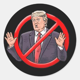 """NO TRUMP"" Stickers. Classic Round Sticker"