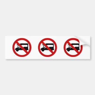 NO Tuk-Tuk TAXI ⚠ Thai Road Sign ⚠ Bumper Sticker