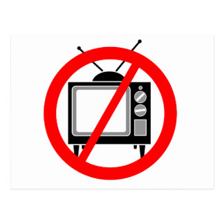 NO TV - television/propaganda/brainwashing/media Postcard