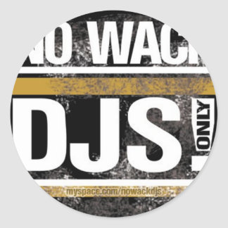 No Wack DJs Round Sticker