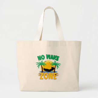 NO WAKE ZONE LARGE TOTE BAG