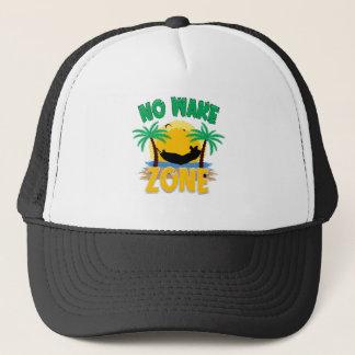 NO WAKE ZONE TRUCKER HAT