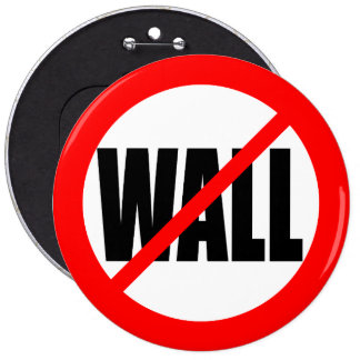 """NO WALL"" 6-inch 6 Inch Round Button"