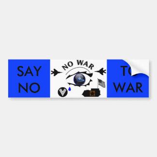 NO WAR BUMPER STICKER