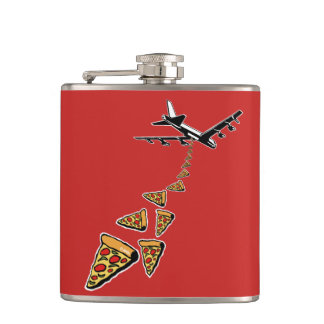 No war more pizza hip flask