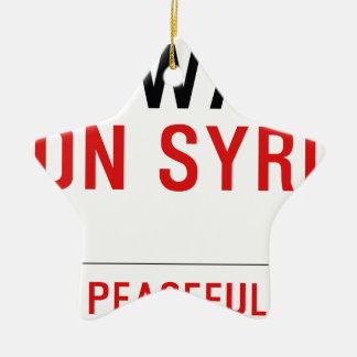 NO-WAR-ON SYRIA CERAMIC STAR ORNAMENT