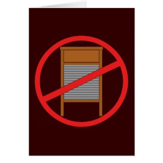 No Washboards! Card