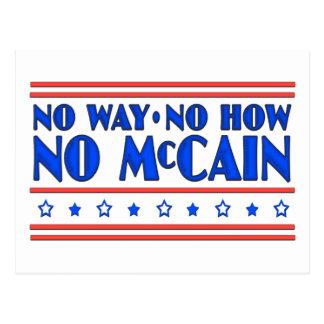 No Way No How No McCain Postcard