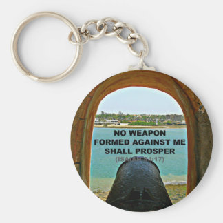 no weapon formed against me keychain