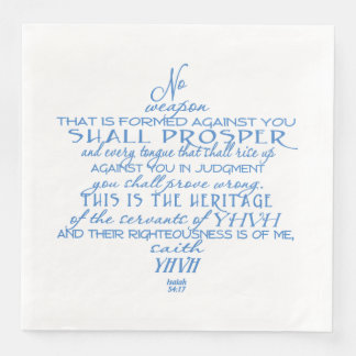 No Weapon Star of David Disposable Napkin