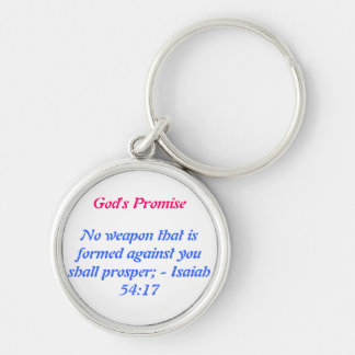 No weapon that is formed against you shall prosper keychain